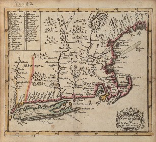 Early Map of New England, 1703
