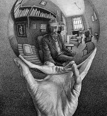 M.C. Escher, Hand With Reflecting Sphere, 1935