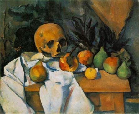 Paul Cezanne, Still Life With Skull (1898)